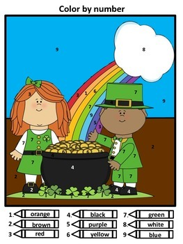 Saint Patrick's Day Color by Number