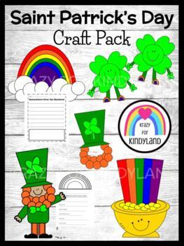 Saint Patrick's Day Craft Pack: Leprechaun,Hat,Pot of Gold