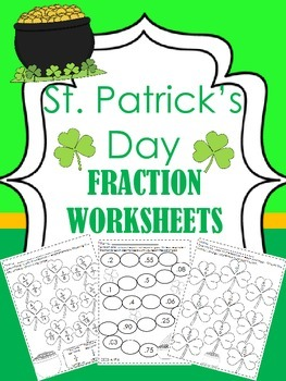 St Patrick's Day Fraction Worksheets