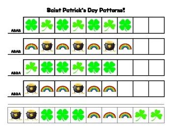Saint Patrick's Day Preschool Activity Pack