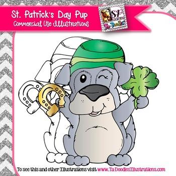 Saint Patrick's Day Puppy Freebie clip art