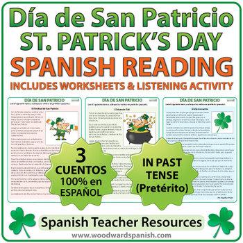 Saint Patrick's Day Reading Passages in Spanish - Día de S