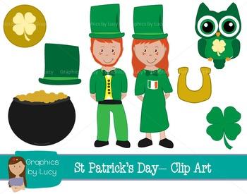 Saint Patrick's Day Clip Art Set! 16 PNG Images {Personal