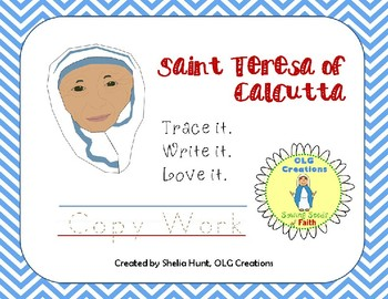 Saint Teresa of Calcutta Copy Work