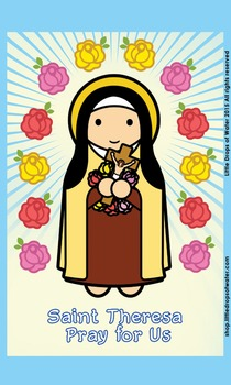 Saint Theresa Flash Card
