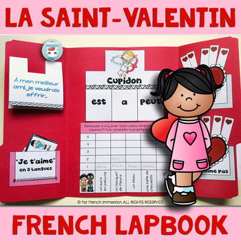 FRENCH Valentine's Day Lapbook   La Saint-Valentin