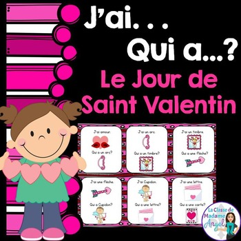 Saint Valentin:  Valentine Themed Vocabulary Game in Frenc