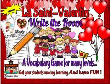 Saint-Valentin/Valentine's Day-Write the Room FRENCH Version !