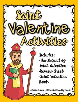 Saint Valentine Activities {Legend Sheet, Review Sheet, and Book}