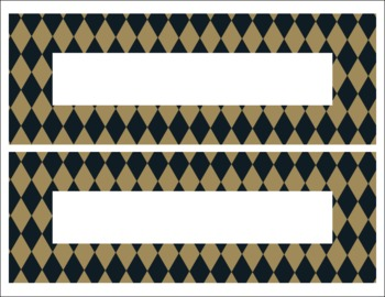 Saints Black and Gold themed Editable Name Tags/Desk Plate