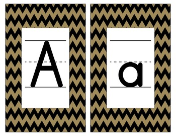 Saints Inspired Black and Gold Alphabet and Number Cards f