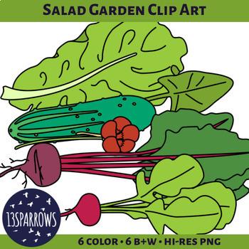 Salad Garden Vegetables Clip Art