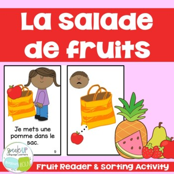 Salade de fruits French Reader & Sorting Page {Dual langua