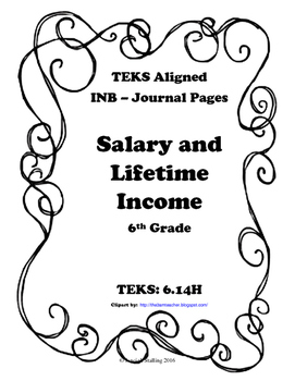 Salary and Lifetime Income INB TEKS 6.14H