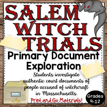 Salem Witch Trials Primary Documents Exploration