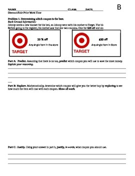 Sales and Discount Work Sheet