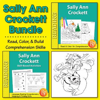 Sally Ann Crockett: Read & Color Story + Skill-Based Activ