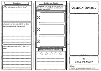 Salmon Summer Comprehension Foldable