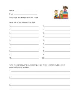 Salt - 4th Grade Open Court Assessment unit 2