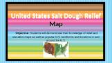 Salt Dough U.S. Relief / Elevation Map