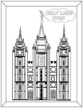 Salt Lake Temple-Black and White