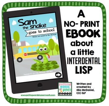 Sam the Snake Goes to School {A no-print eBook about an in