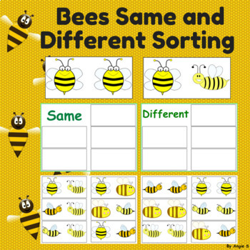 FREE Same or Different -Bees, Special Education Resource
