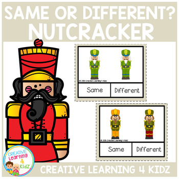 Same or Different Nutcracker Clip Cards