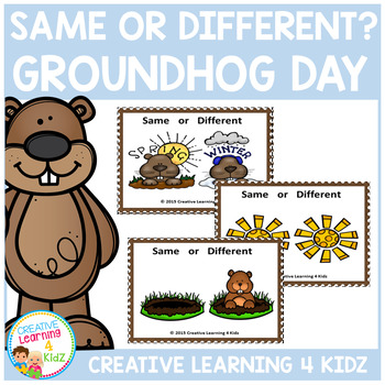 Same or Different Groundhog Day Cards