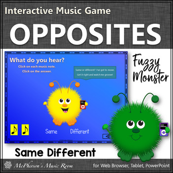 Same or Different?  Interactive Music Game (monsters)