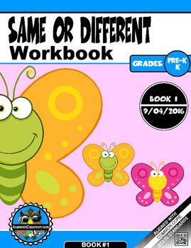 Same or Different Workbook 1- PreK-K