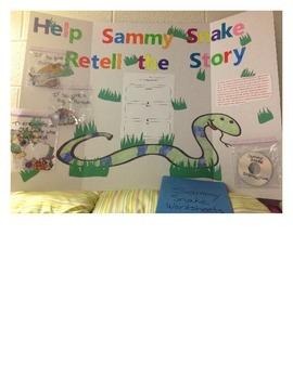 Sammy Snake literacy center