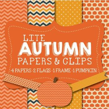Lite Autumn Papers & Clipart