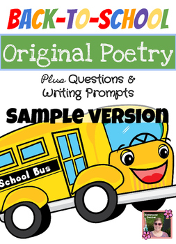 Sample-Back to School Poem Unit with Inferencing Questions