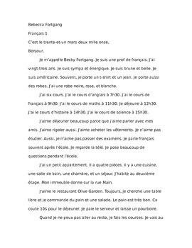 Sample Final essay Bon Voyage Chapters 1-7