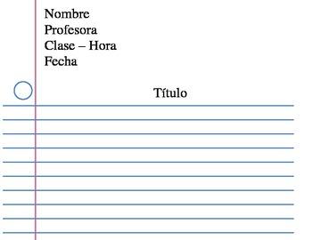 Sample Heading - Spanish