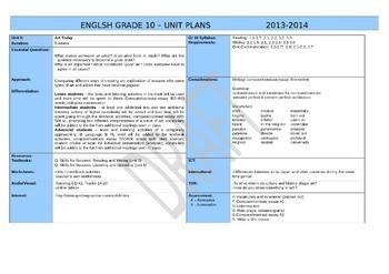 Sample IB Lesson Plans