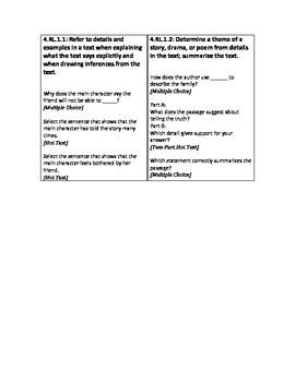Sample Item Stem Questions - Florida Standards Assessment