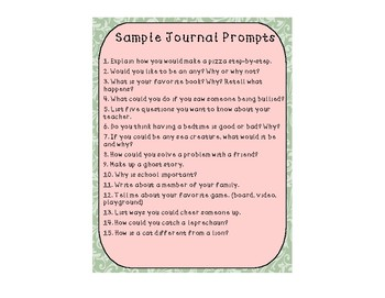 Journal Prompts (Sample)