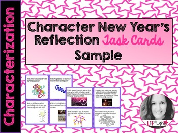 Sample- New Year's Character Reflection Task Cards