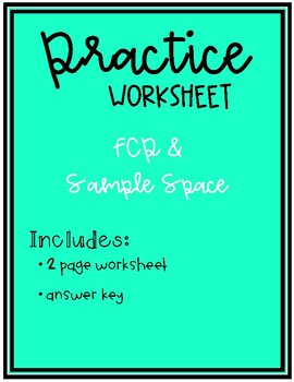 Sample Space & Fundamental Counting Principle Practice