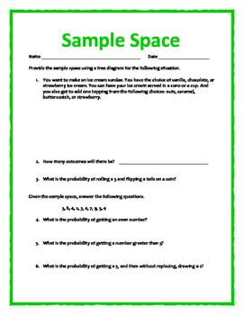 Sample Space w/ Answer Key