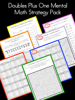 Doubles Plus One Mental Math Strategy Pack