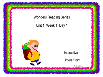 Sample of Wonders PowerPoints