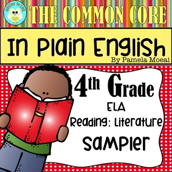 FREEBIE!  Common Core in Plain English: 4th Grade Reading