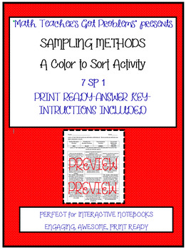 Sampling Methods-Color to Sort 7SP.1