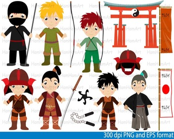 Samurai Warrior Karate Clip Art Teachers Ninja Japan hallo