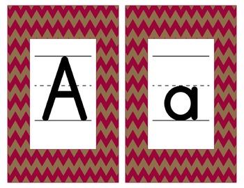 San Francisco 49ers Inspired Scarlet & Gold Alphabet Cards