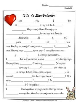 San valentin, Spanish valentines day movie talk and song