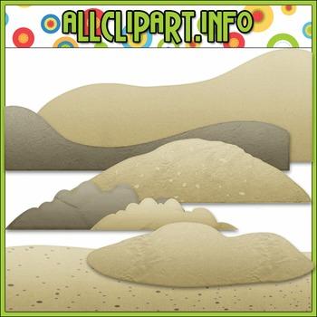 Sand Elements Clip Art